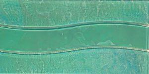 Green 6″ x 12″ (Border Wave Series) Glass Pool Tile