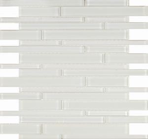 Pure White Linear (Pure White Series) Glass Pool Tile