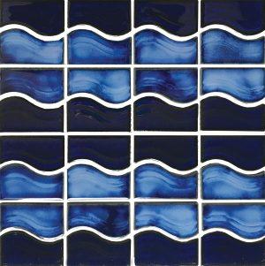 Royal Blue Mosaic (Waterside Series) Porcelain Pool Tile