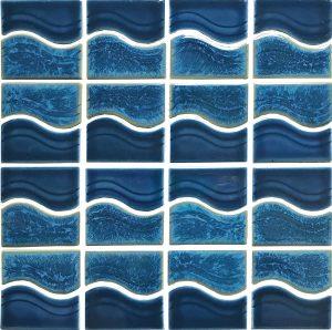 Smoke Blue Mosaic (Waterside Series) Porcelain Pool Tile