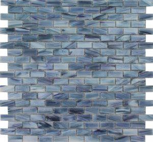 Azurite 1/2″ x 1″ (Aurora Series) Glass Pool Tile
