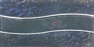 Grey 6″ x 12″ (Border Wave Series) Glass Pool Tile