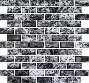Lagoon 1″ x 2″ (Rain Series) Glass Pool Tile