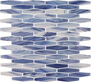 Flores Long (Peloton Series) Glass Pool Tile