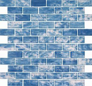 Maldives 1″ x 2″ (Rain Series) Glass Pool Tile