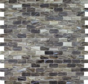 Carbon 1/2″ x 1″ (Aurora Series) Glass Pool Tile