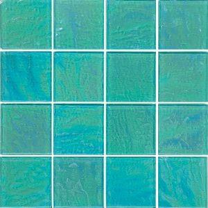 Green 3″ x 3″ (Piazza Series) Glass Pool Tile