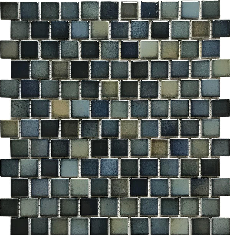Medium 1″ x 1″ (Sea Breeze Series) Porcelain Pool Tile