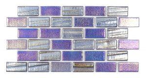 Blue 1″ x 2″ (Illusions Series) Glass Pool Tile