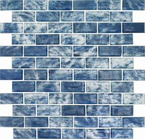 Tahoe 1″ x 2″ (Rain Series) Glass Pool Tile
