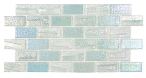 Green 1″ x 2″ (Illusions Series) Glass Pool Tile