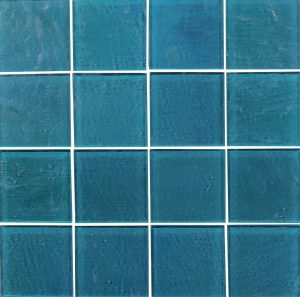 Turquoise 3″ x 3″ (Piazza Series) Glass Pool Tile