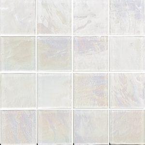 White 3″ x 3″ (Piazza Series) Glass Pool Tile
