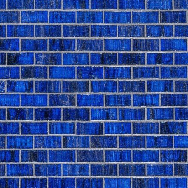 SAPPHIRE, 3/4″ X 1-1/2″ Glass Pool Tile