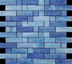 Aegean Mixed (Dash Series) Glass Pool Tile