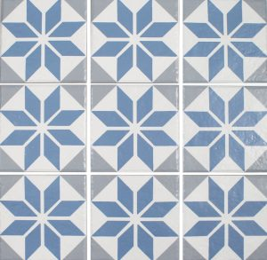 Aqua 6″ x 6″ (Ancient Floridita Series) Porcelain Pool Tile