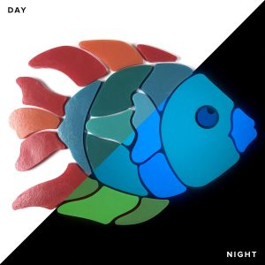 Glow in the Dark Angel Fish Pool Mosaics