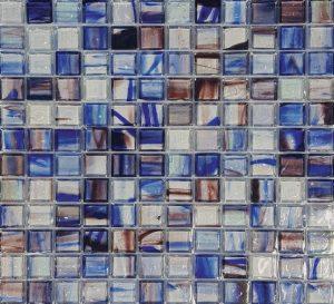 Lorraine 1″ x 1″ (Artglas Series) Glass Pool Tile