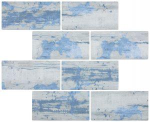 Aspen 3″ x 6″ (Bark Series) Glass Pool Tile
