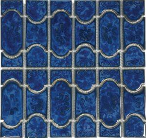 Lake Blue Mosaic (Botanical Series) Porcelain Pool Tile
