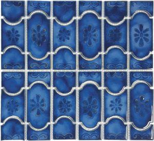 Marble Royal Mosaic (Botanical Series) Porcelain Pool Tile