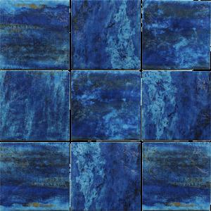 Blue 6″ x 6″ (Coral Series) Porcelain Pool Tile