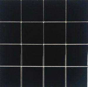 Black 3″ x 3″ (Crystal Series) Glass Pool Tile