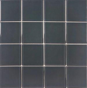 Grey 3″ x 3″ (Crystal Series) Glass Pool Tile