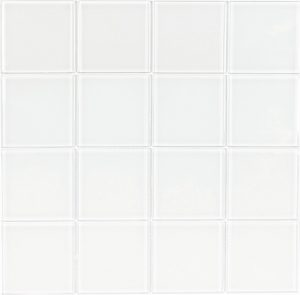 White 3″ x 3″ (Crystal Series) Glass Pool Tile