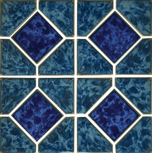 Atlantic Green Akron 6″ x 6″ (Diamond Reflection Series) Porcelain Pool Tile