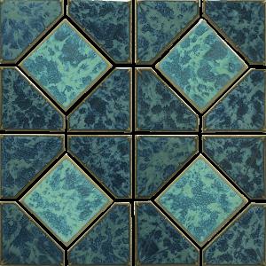Gulf Blue Akron 6″ x 6″ (Diamond Reflection Series) Porcelain Pool Tile