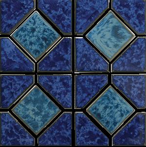 Pacific Blue Akron 6″ x 6″ (Diamond Reflection Series) Porcelain Pool Tile