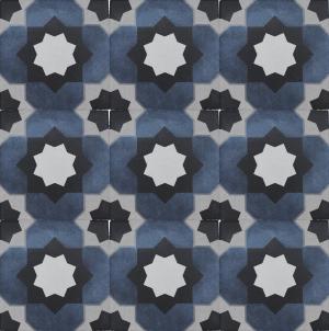 Janette 6″ x 6″ (Fleur Series) Porcelain Pool Tile