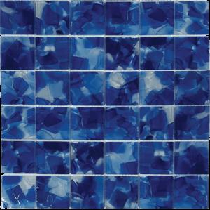 Iris 2″ x 2″ (Flower Glass Series) Glass Pool Tile