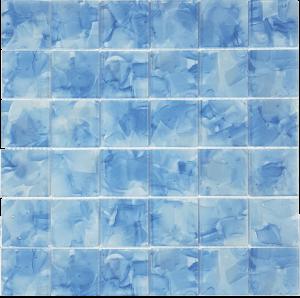 Bluebell 2″ x 2″ (Flower Glass Series) Glass Pool Tile