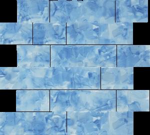 Bluebell 2″ x 3″ (Flower Glass Series) Glass Pool Tile