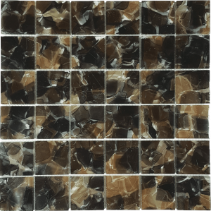 Cosmos 2″ x 2″ (Flower Glass Series) Glass Pool Tile