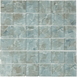 Hyacinth 2″ x 2″ (Flower Glass Series) Glass Pool Tile