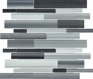 Carbon Linear Mixed (Fusion Glass Series) Glass Pool Tile