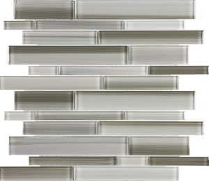 Clay Linear Mixed (Fusion Glass Series) Glass Pool Tile