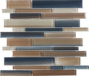 Erosion Linear Mixed (Fusion Glass Series) Glass Pool Tile