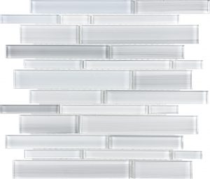 Ice Linear Mixed (Fusion Glass Series) Glass Pool Tile