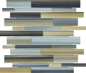 Oxide Linear Mixed (Fusion Glass Series) Glass Pool Tile
