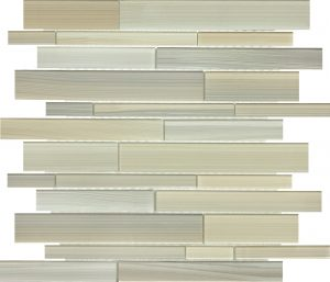 Plantation Linear Mixed (Fusion Glass Series) Glass Pool Tile