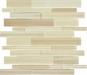 Sand Linear Mixed (Fusion Glass Series) Glass Pool Tile