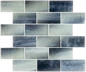 Frosted Night 2″ x 4″ (Subway Series) Glass Pool Tile