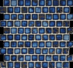 Terra Blue 1″ x 1″ (Harmony Series) Porcelain Pool Tile