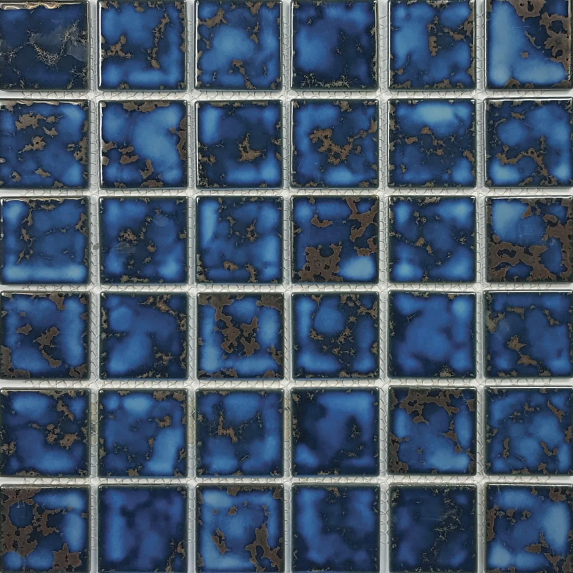 Terra Blue 2″ x 2″ (Harmony Series) Porcelain Pool Tile
