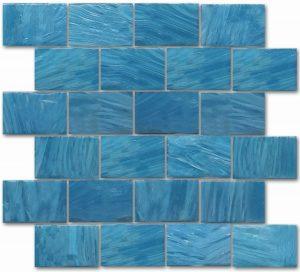 Ionian 2″ x 3″ (Garden Wall Series) Glass Pool Tile