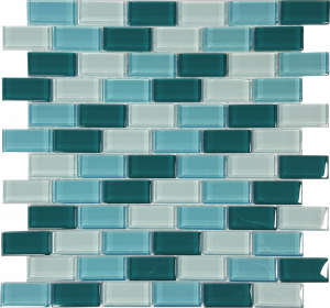 Jamaica 1″ x 2″ (Island Blends) Glass Pool Tile